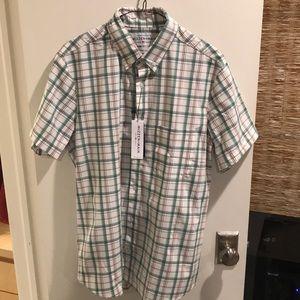 (NWT) Mizzen+Main Short Sleeve Button Down Shirt